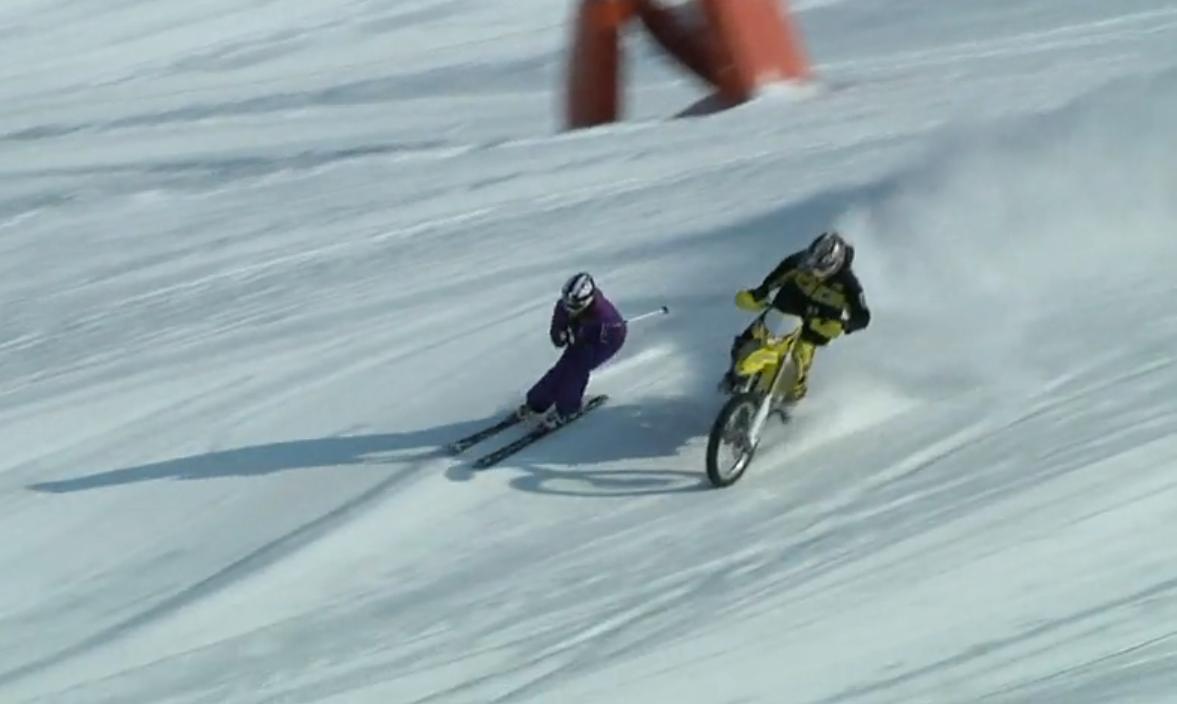雪でもバイクに乗りたい! 中級編