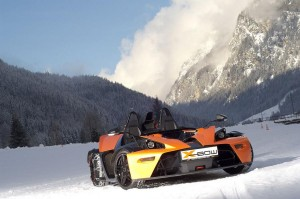 KTM X-BOW on ice