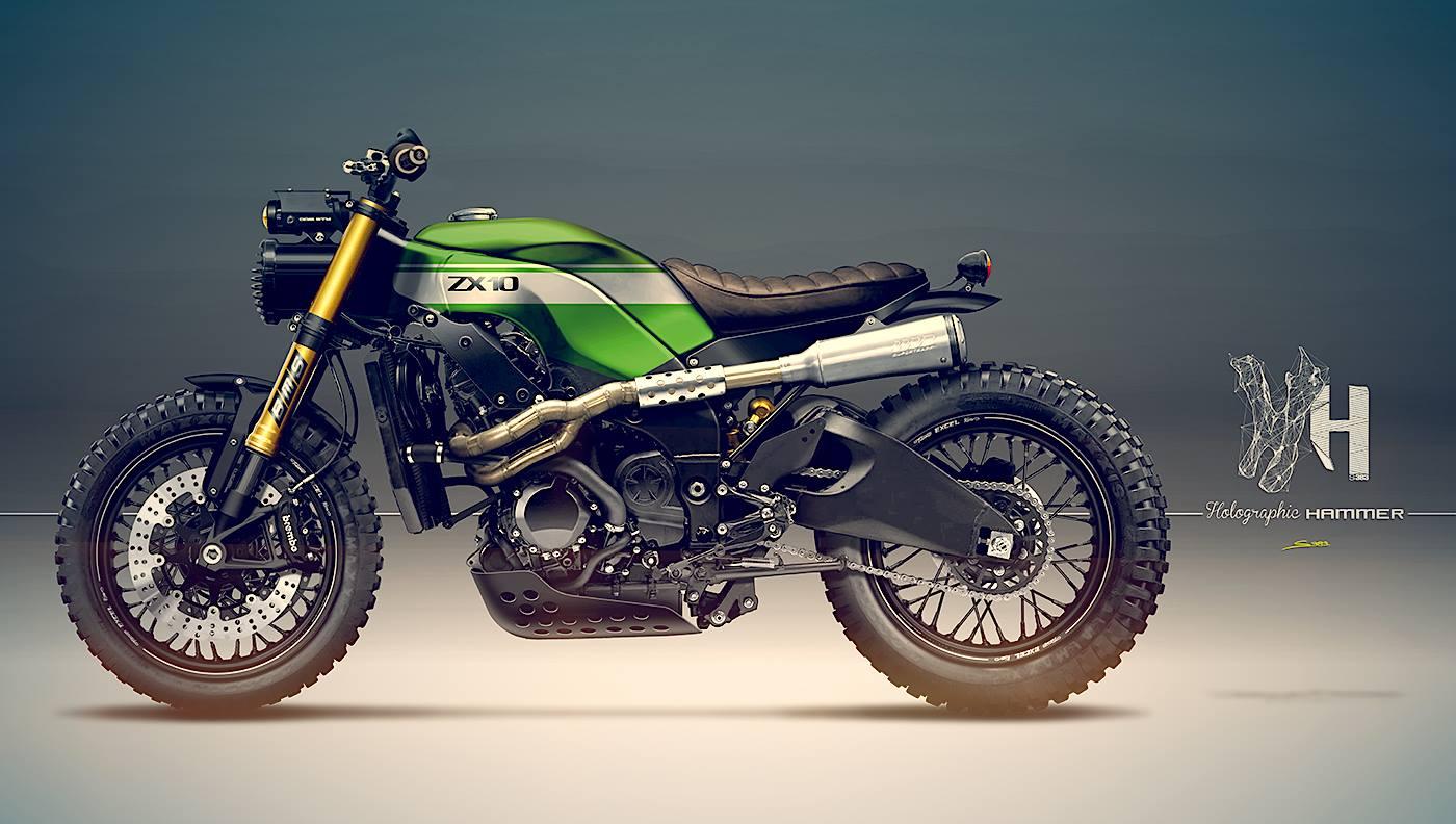 こんなバイクあったらすごい!! KAWASAKI Ninja ZX-10R Scrambler!!