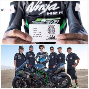KAWASAKI Ninja H2R がアメリカの空港で 最高速 チャレンジ !!