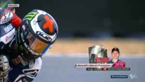 MOTO GP 2015 シリーズチャンピオン ロレンソ !!