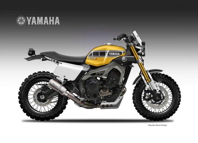 YAMAHA XSR900 MT-09 のスクランブラー!?