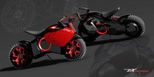 DUCATI 電動バイク のコンセプトは冬用?