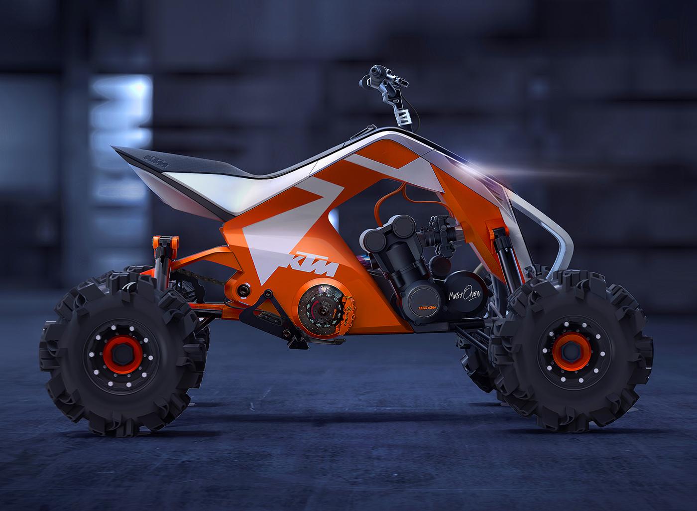 KTM X2 という変身 ATV コンセプトがかっこいい!!