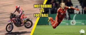 おもしろ動画 バイク vs サッカー を海外ではこのように見る。