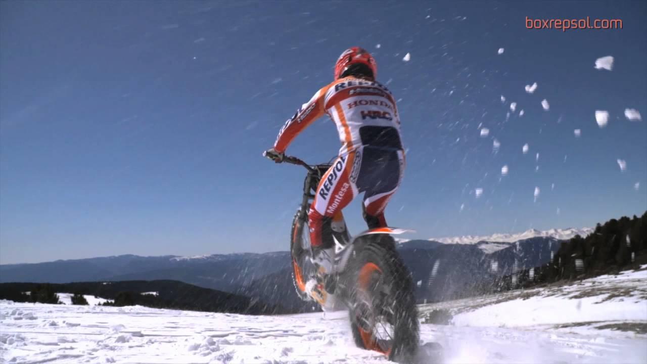トライアル チャンピオン トニー・ボウ の圧巻雪上ライド映像!