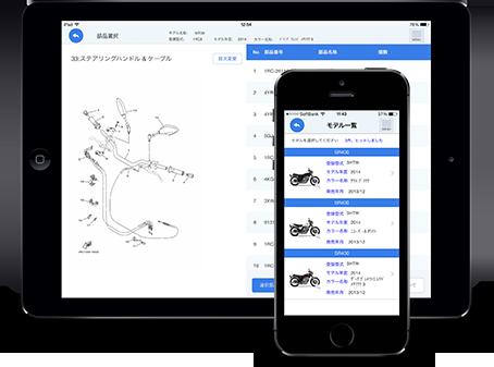 ヤマハのすごく便利なパーツリストアプリを見つけた!