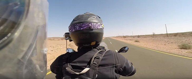 まともなヘルメットでも恐怖に襲われるのはこんな時。