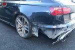 ロッシ愛車 Audi RS6で事故る。。。