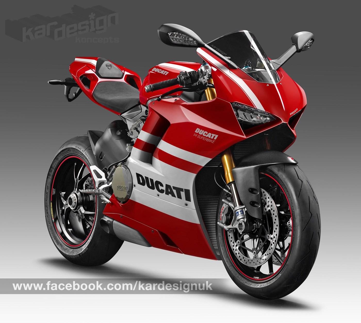 Ducati V4スーパースポーツデザイン予測 赤