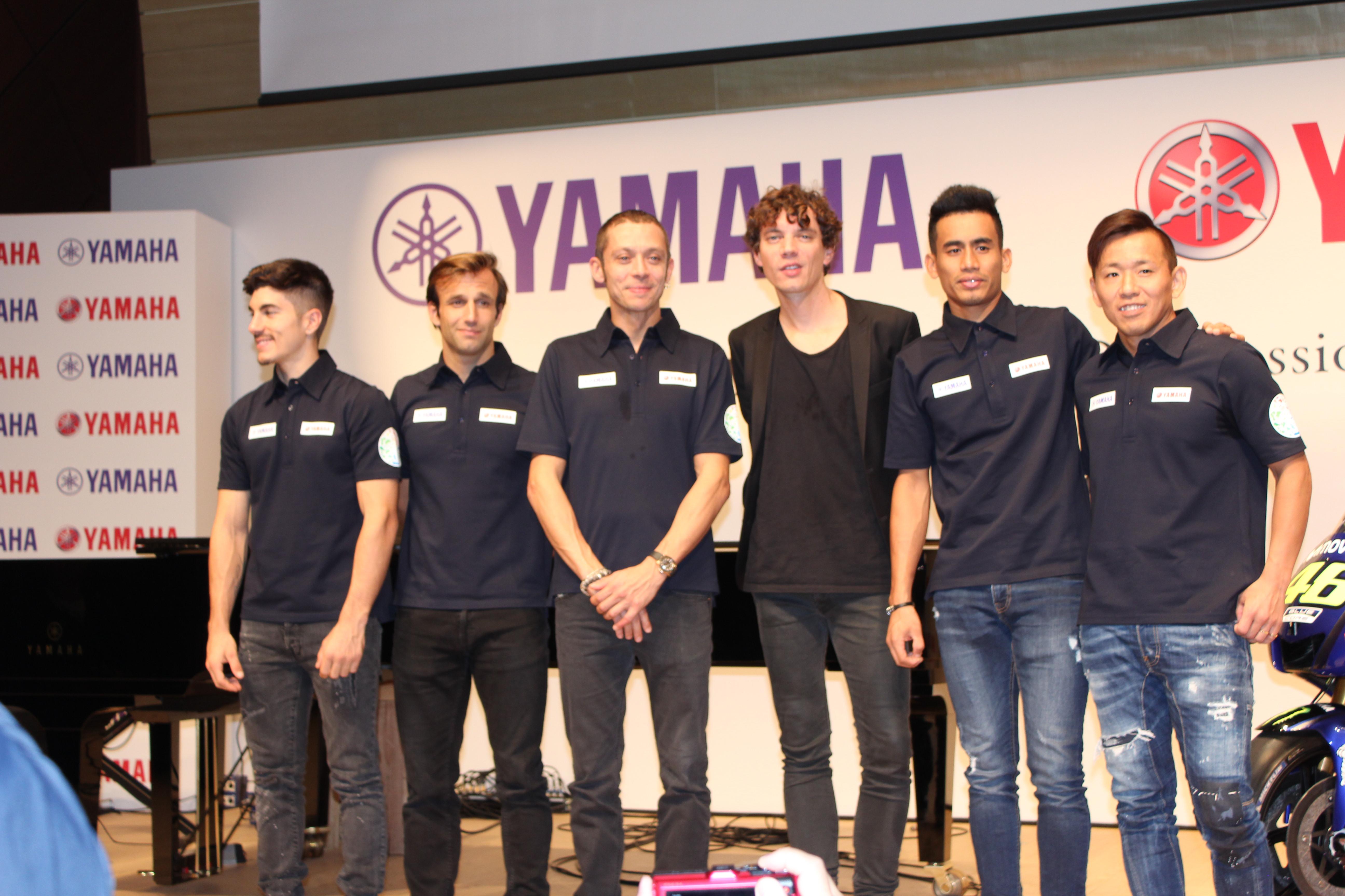 日本GPを控えたライダー達が銀座に集結!ヤマハが創る「感動」を語る