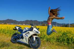 インスタバイク女子Ruriko「冬の房総菜の花ツーリング」