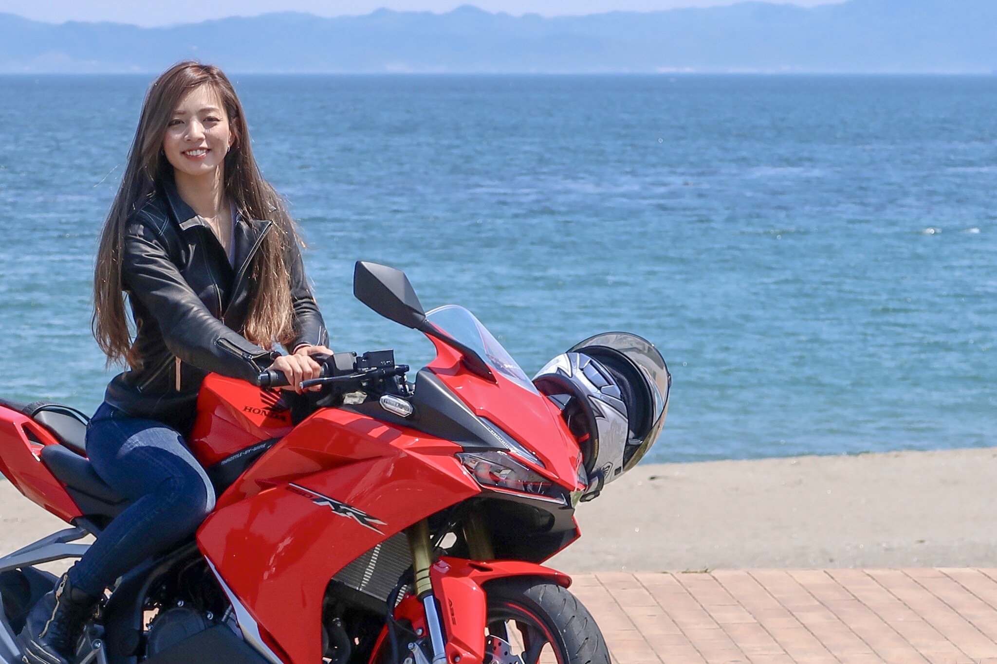 インスタ女子Ruriko CBR250RRで三浦下道のんびりツーリング