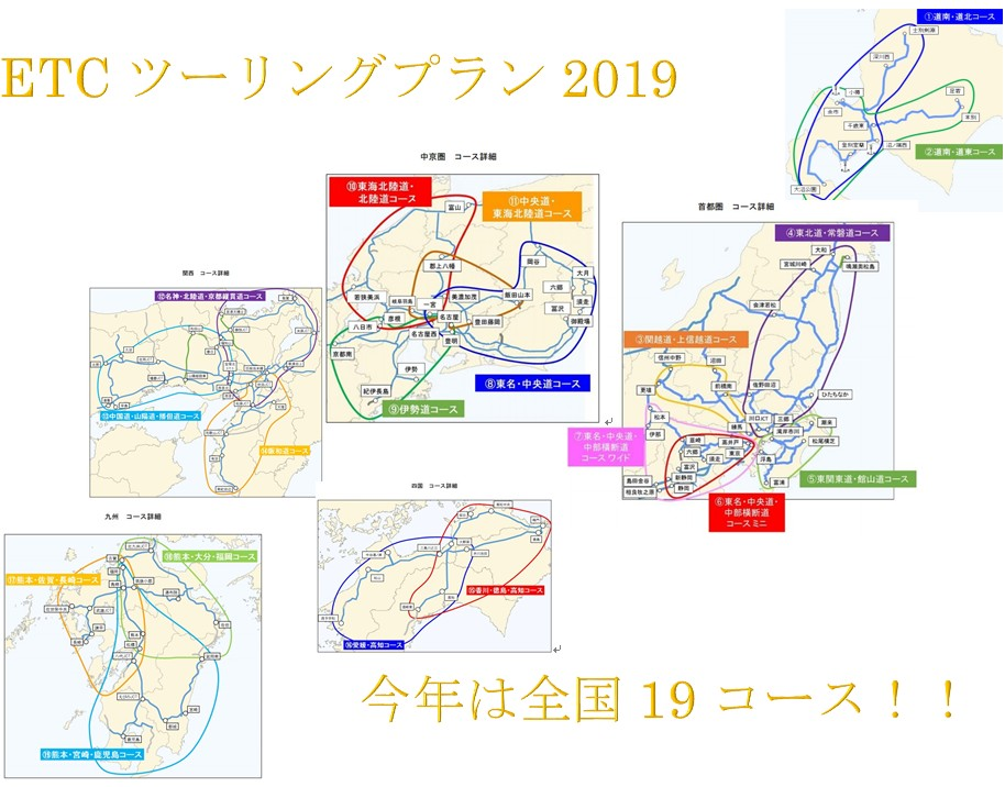 ETCツーリングプラン2019!北海道や四国も加わったけど使えるのか?