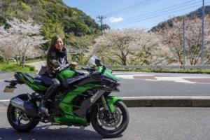 インスタ女子Ruriko Kawasaki H2 SXで千葉へショートツーリング