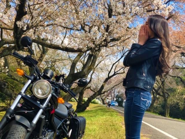 インスタバイク女子おみつ「お花見ツーリング」
