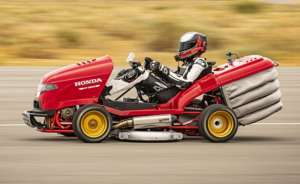 Honda(ホンダ) 芝刈り機にCBR1000RRエンジンを積んでギネス記録更新!