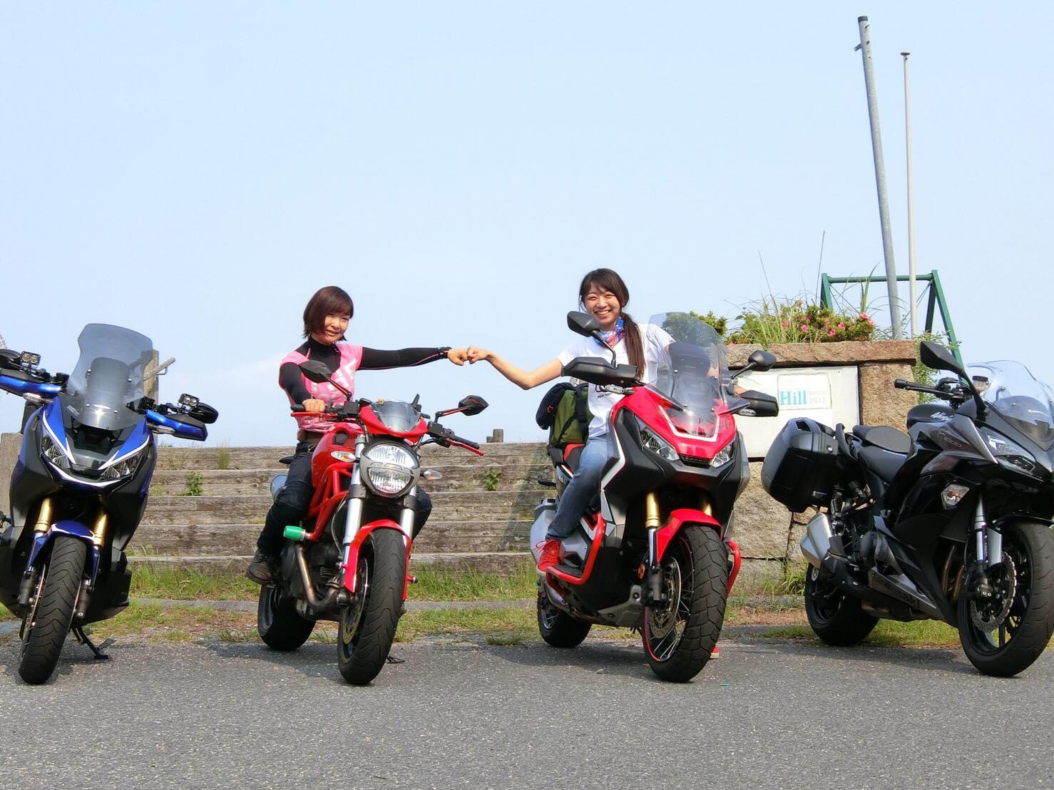 バイク女子 ツーリング