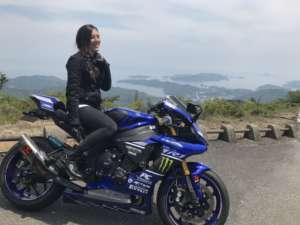 バイク女子 ヘルメット kawasaki カワサキ ninja1000 r1 yamaha
