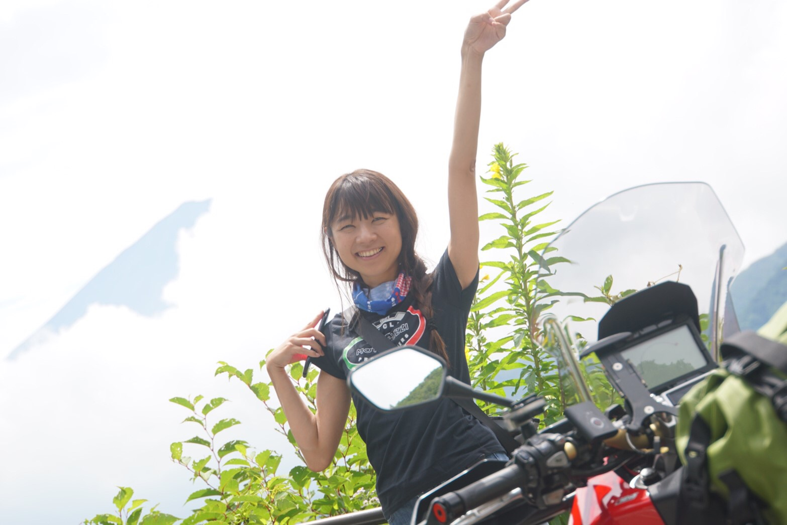 インスタバイク女性ライダーkanae「富士山・富士五湖ツーリング」
