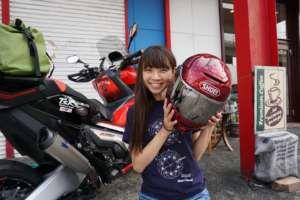インスタバイク女性ライダーkanae「おすすめヘルメット!」