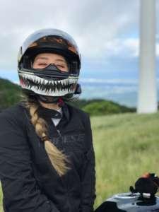 インスタバイク女子おみつ「嵐の青山高原ツーリング」