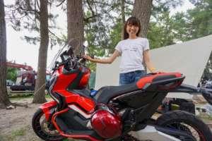 インスタバイク女性ライダーkanae「琵琶湖キャンプツーリング」
