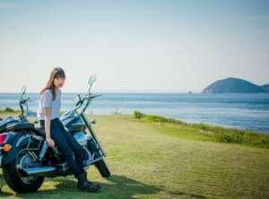 波戸岬とバイク