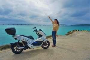 インスタバイク女子おみつ「宮古島で電動スクーターツーリング」