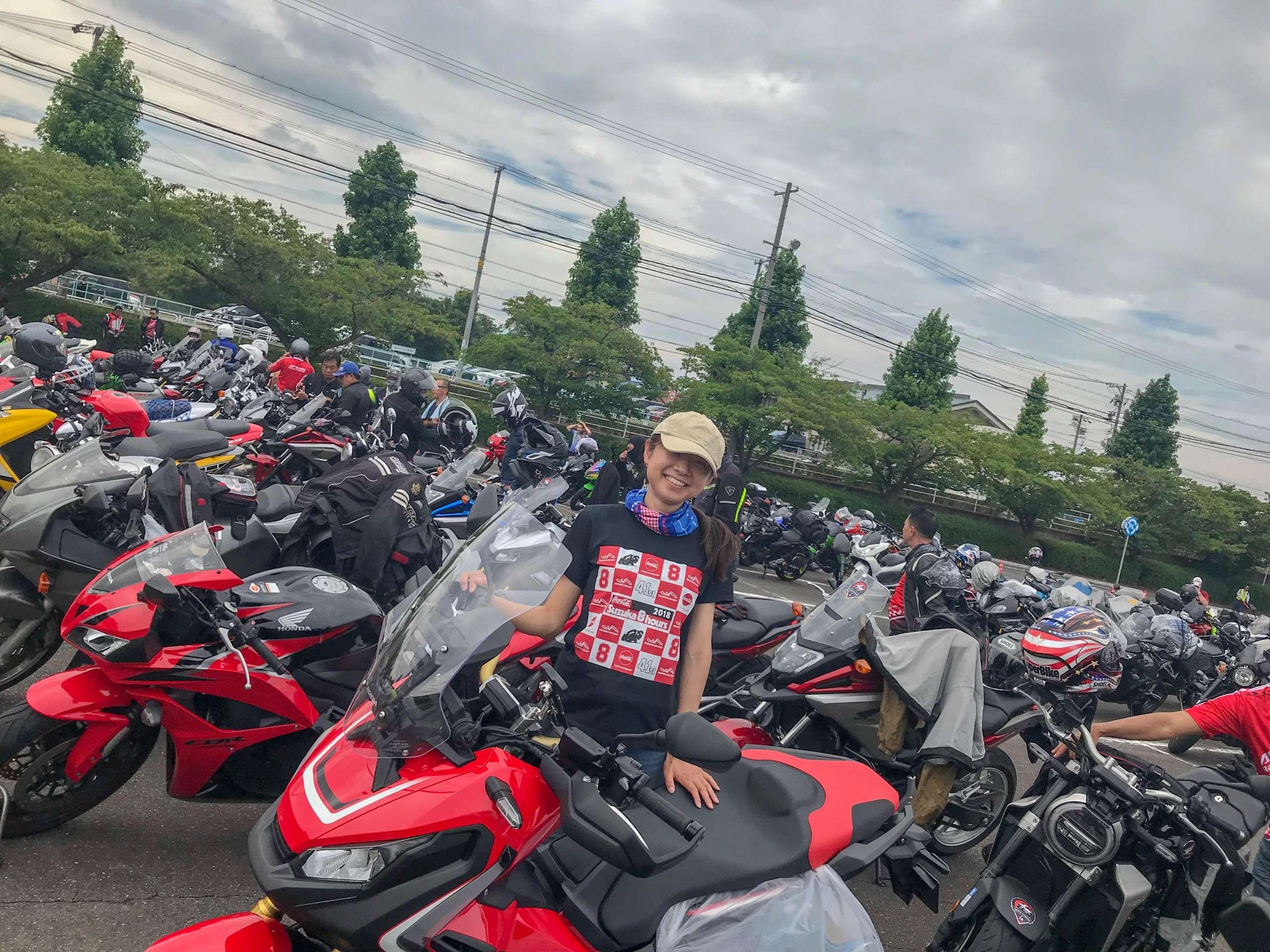 インスタバイク女性ライダーkanae「鈴鹿8耐観戦記」