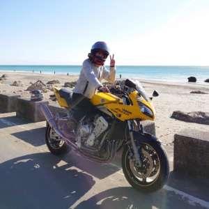 インスタバイク女性ライダーkanae「太平洋ロングビーチツーリング」