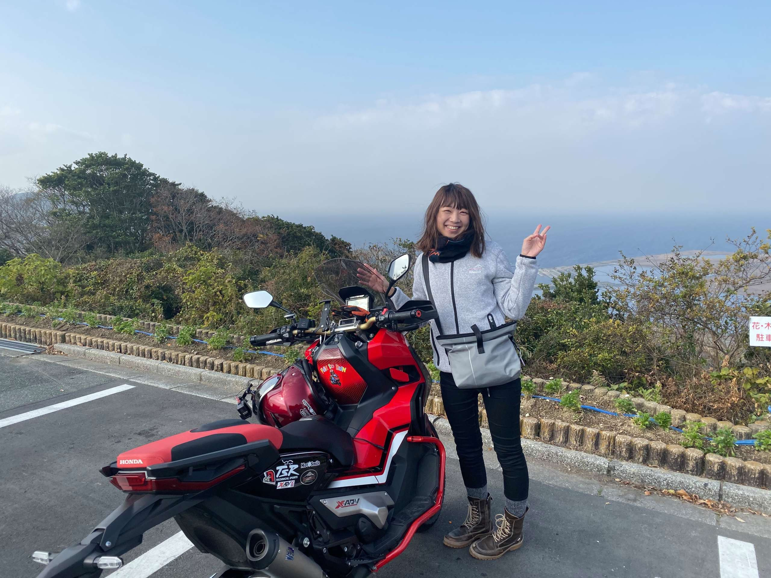 インスタバイク女性ライダーkanae「冬でも蔵王山展望台ツーリング」