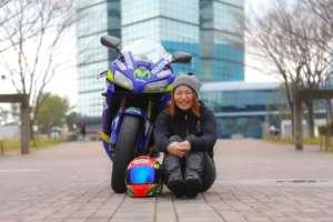 女子レーシングライダー亜梨沙「2020年 走り初め」