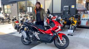 インスタバイク女性ライダーkanae「ホンダ ADV150試乗レポート」