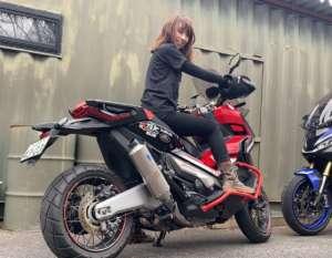 インスタバイク女性ライダーkanae「牡蠣ツーリング」