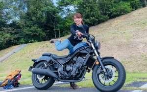 インスタバイク女性ライダーkanae「レブル250ツーリング」
