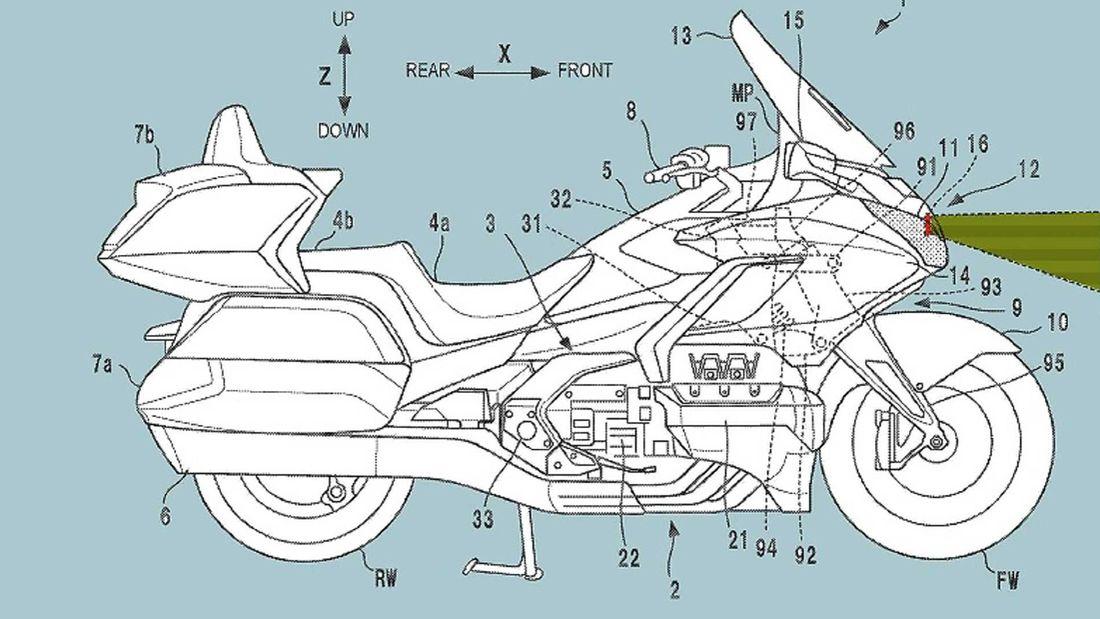 Honda(ホンダ) Gold Wing GL1800にレーダー搭載の特許が登場